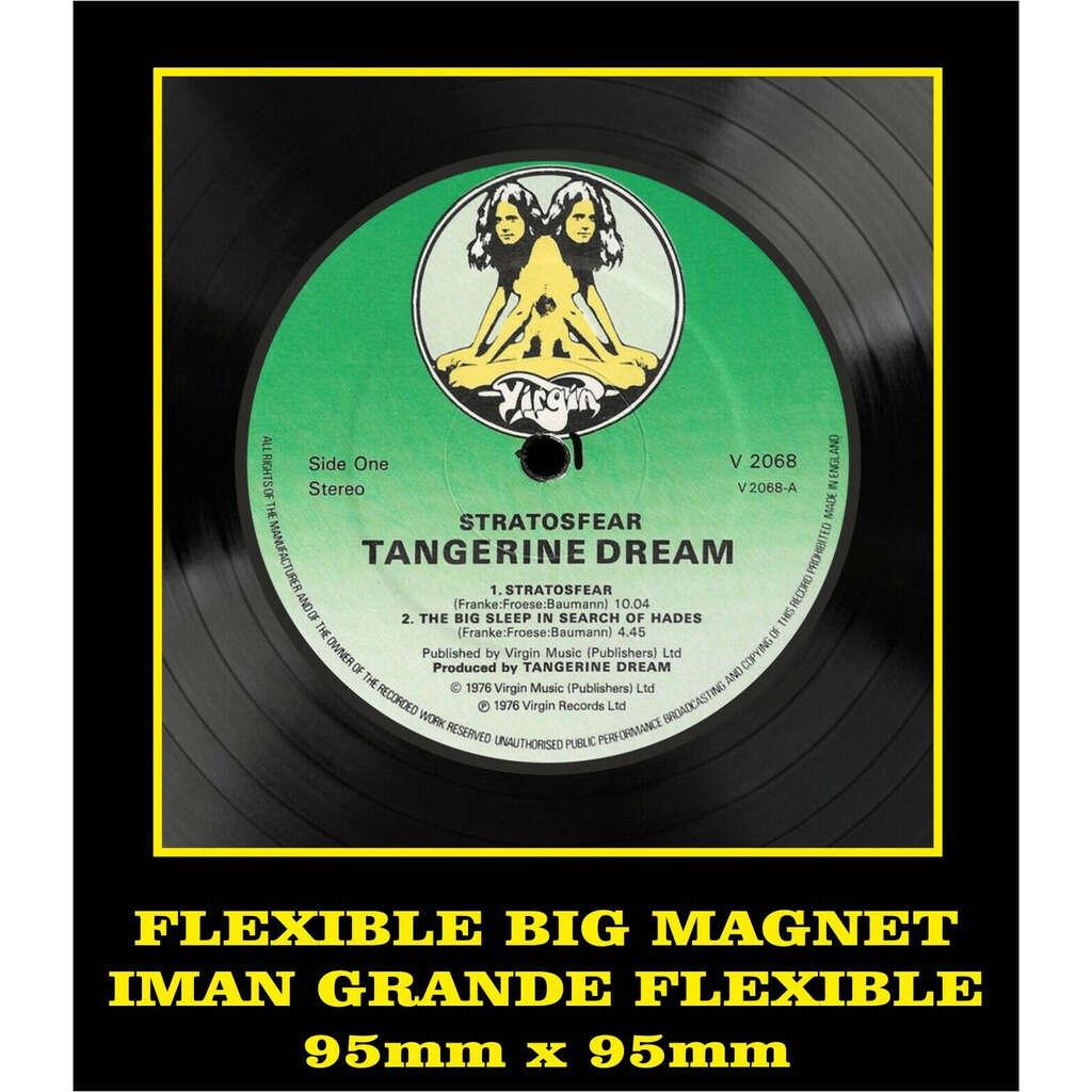 Tangerine Dream Stratosfear LABEL FLEXIBLE BIG MAGNET IMÁN GRANDE AIMANT