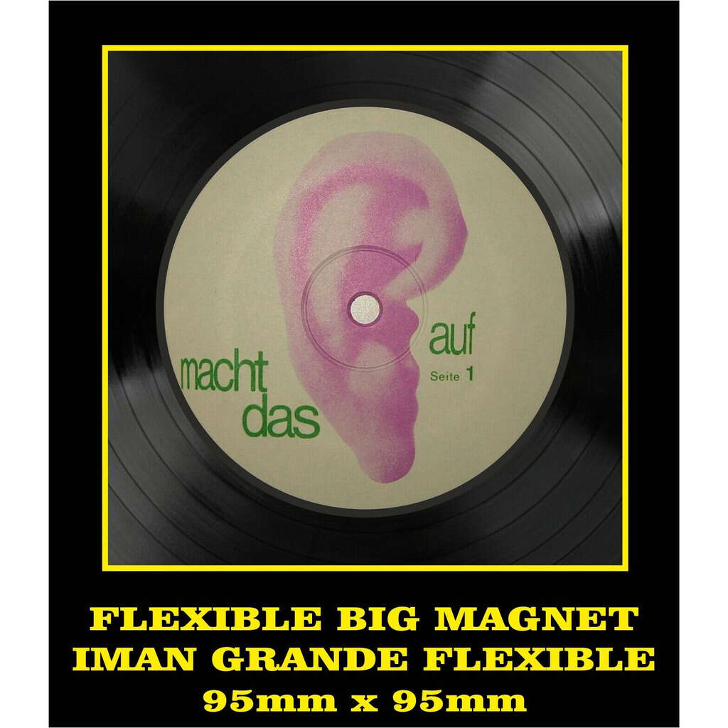 Tangerine Dream Electronic Meditation LABEL FLEXIBLE BIG MAGNET IMÁN GRANDE AIMANT