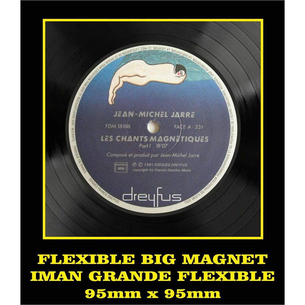 Jean Michel Jarre Les Chants Magnétiques LABEL FLEXIBLE BIG MAGNET IMÁN GRANDE AIMANT