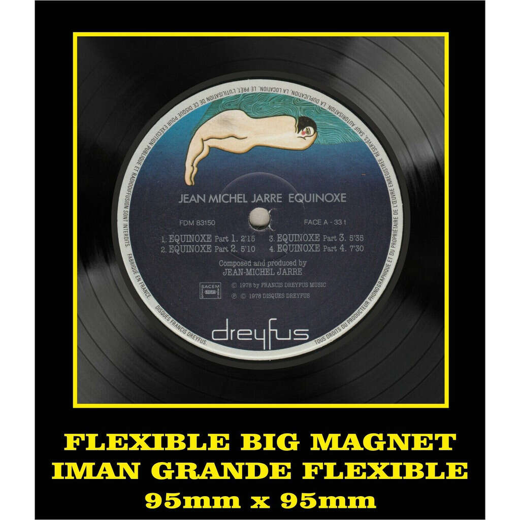 Jean Michel Jarre Equinoxe LABEL FLEXIBLE BIG MAGNET IMÁN GRANDE AIMANT