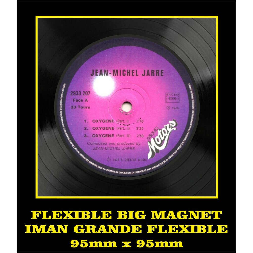 Jean Michel Jarre Oxygène LABEL FLEXIBLE BIG MAGNET IMÁN GRANDE