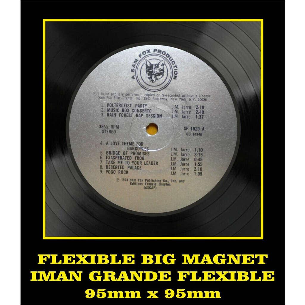 Jean Michel Jarre Deserted Palace LABEL FLEXIBLE BIG MAGNET IMÁN GRANDE AIMANT