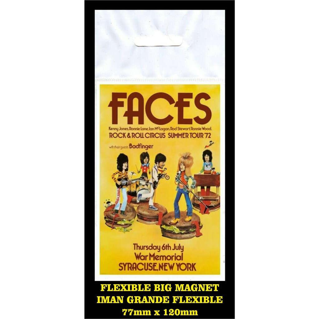 Faces Syracuse Summer Tour 1972 Rod Stewart FLEXIBLE BIG MAGNET IMÁN GRANDE AIMANT