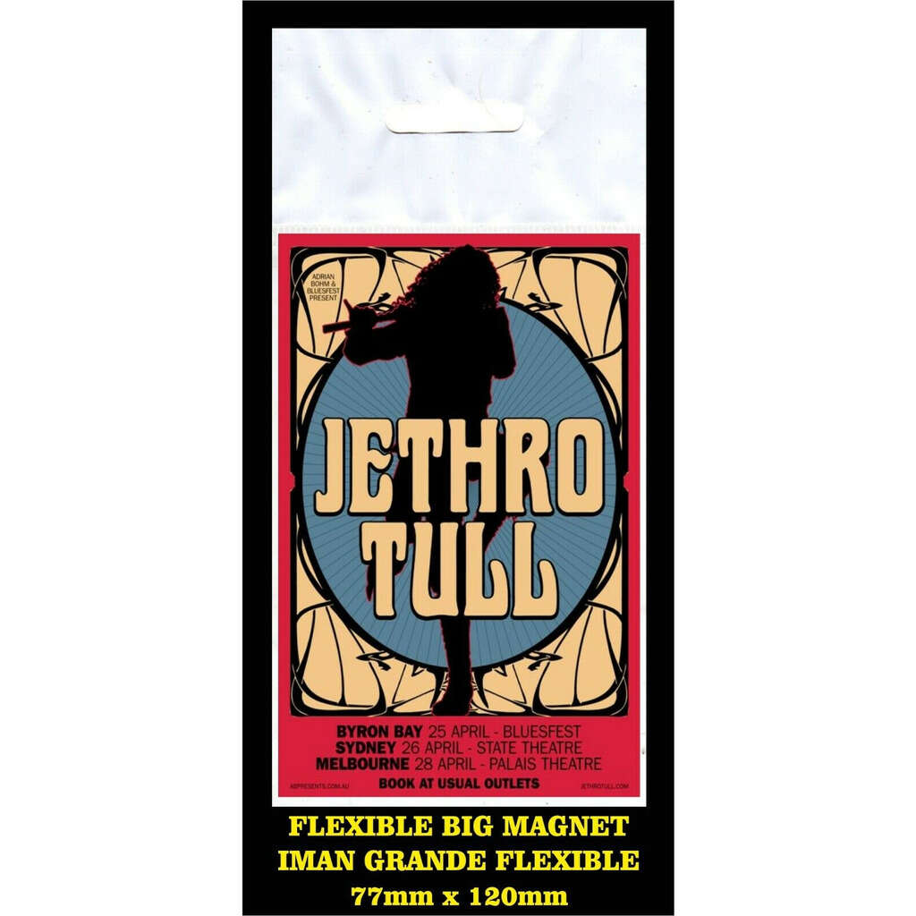 Jethro Tull Sidney FLEXIBLE BIG MAGNET IMÁN GRANDE AIMANT