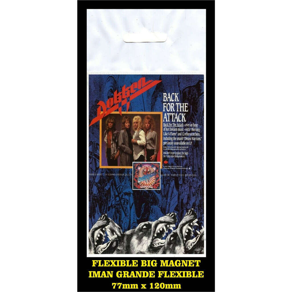 Dokken Back for the attack flyer reproduction imán Premium BIG magnet AIMANT