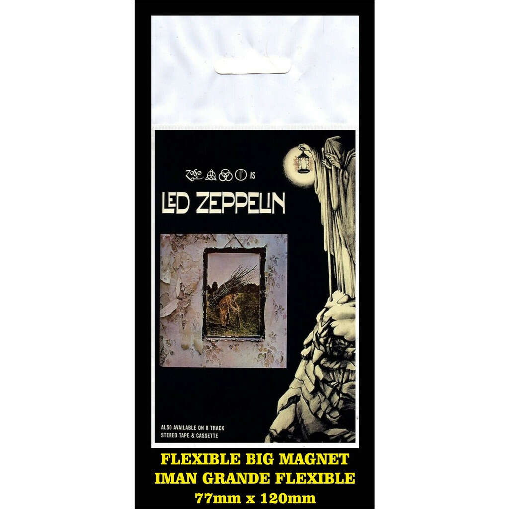 Led zeppelin IV flyer advertising imán Premium BIG magnet AIMANT
