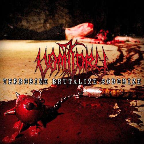 VOMITORY Terrorize Brutalize Sodomize. Ocher Marble Vinyl