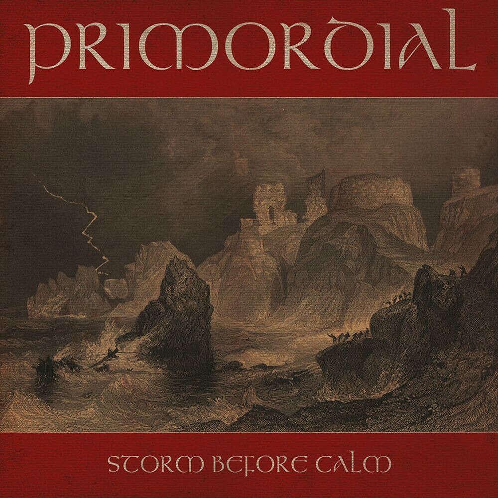 PRIMORDIAL Storm Before Calm. Olive Black Marble Vinyl