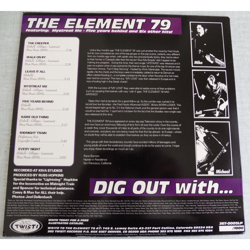 The Element 79 Dig Out!