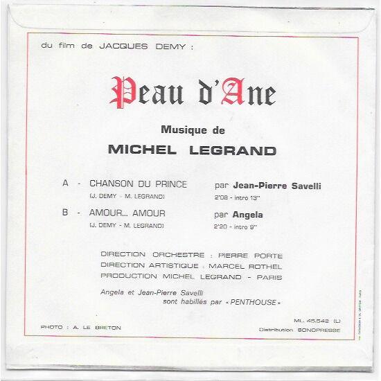 Jean-Pierre Savelli / Angella - Michel Legrand Peau D'Ane