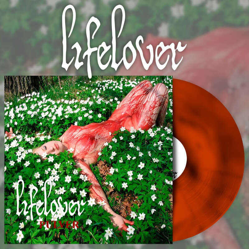 LIFELOVER Pulver. Oxblood & Orange Swirl Vinyl