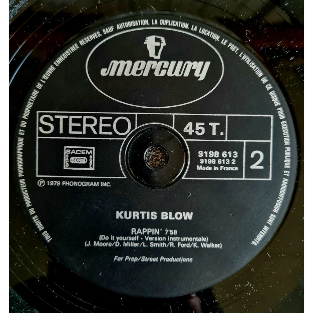 Kurtis Blow - Rappin' Rappin' (Do It Yourself - Version Instrumentale)1979