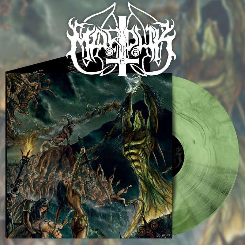 MARDUK Opus Nocturne. Cockebootle Green & Black Marble Vinyl