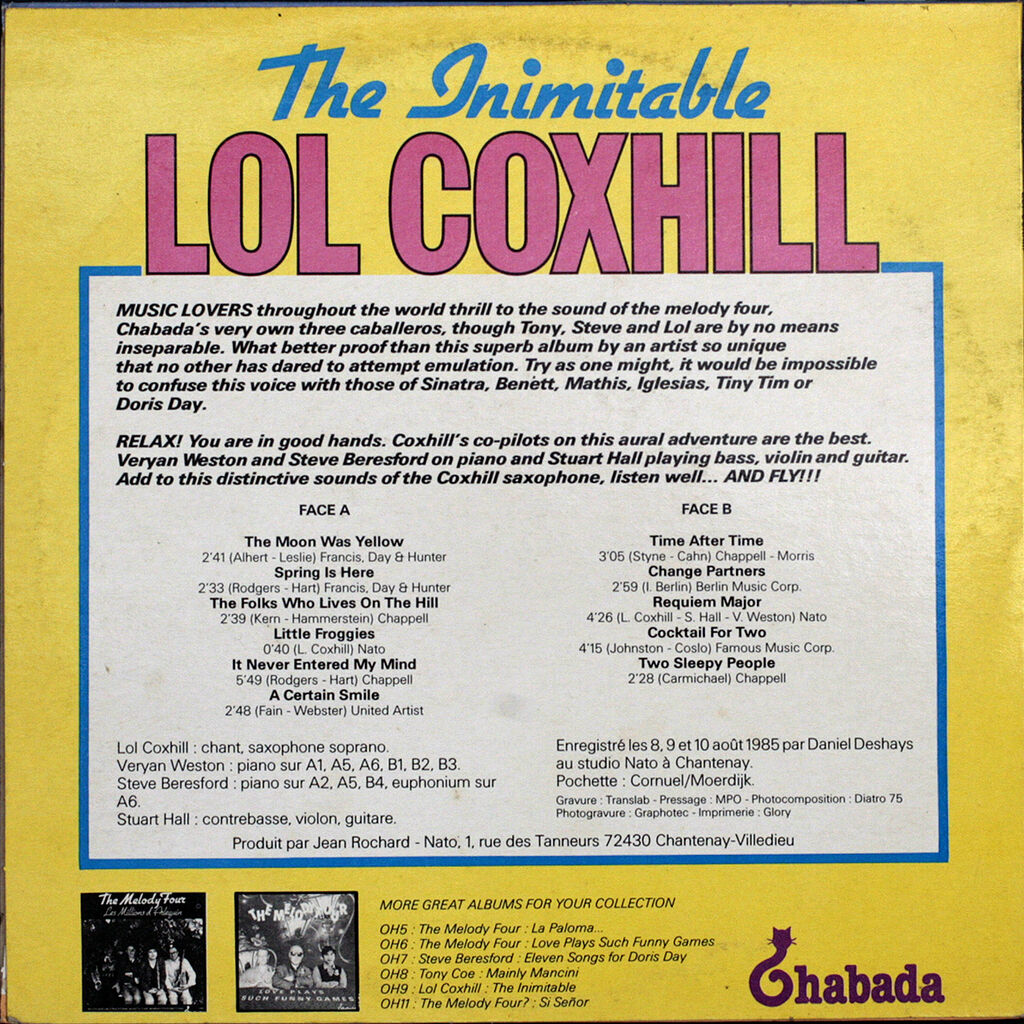 COXHILL Lol THE INIMITABLE