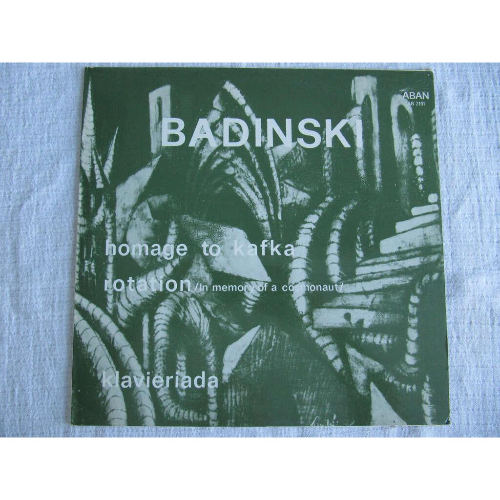 Nikolai Badinski Klavieriada / Homage To Kafka / Rotation (In Memory Of A Cosmonaut)