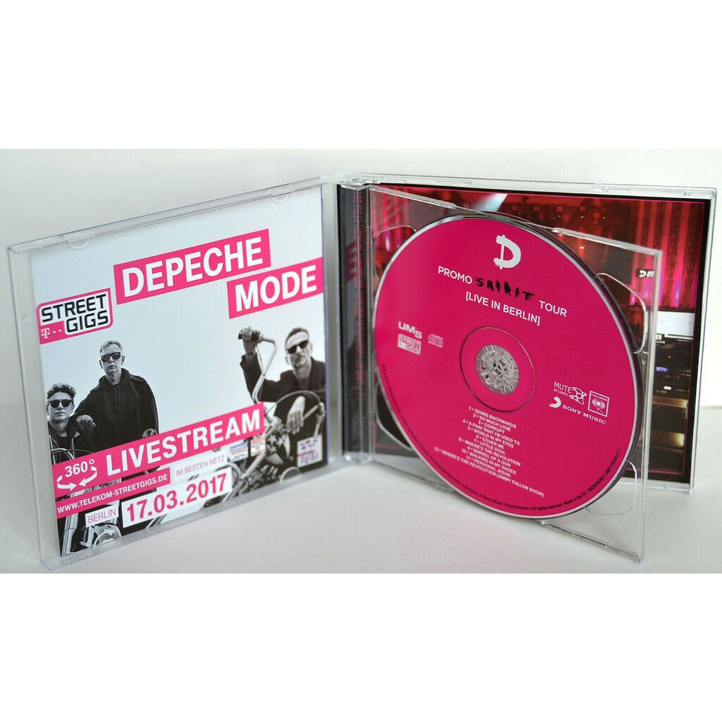 DEPECHE MODE Live In Berlin Germany 17.03.2017 Promo Spirit Tour CD+DVD