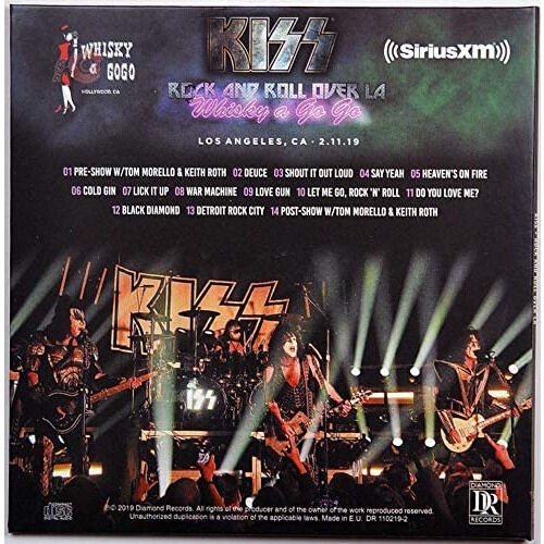kiss Live at Whisky a Go Go Night Club Los Angeles USA 2019 End Of The Road Tour CD