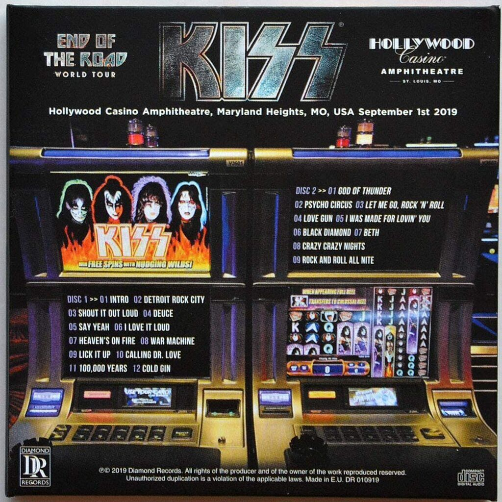 kiss No More Bet(H)s Live at Hollywood Casino Amphitheater Maryland Heights USA 2019 End Of The Road Tour