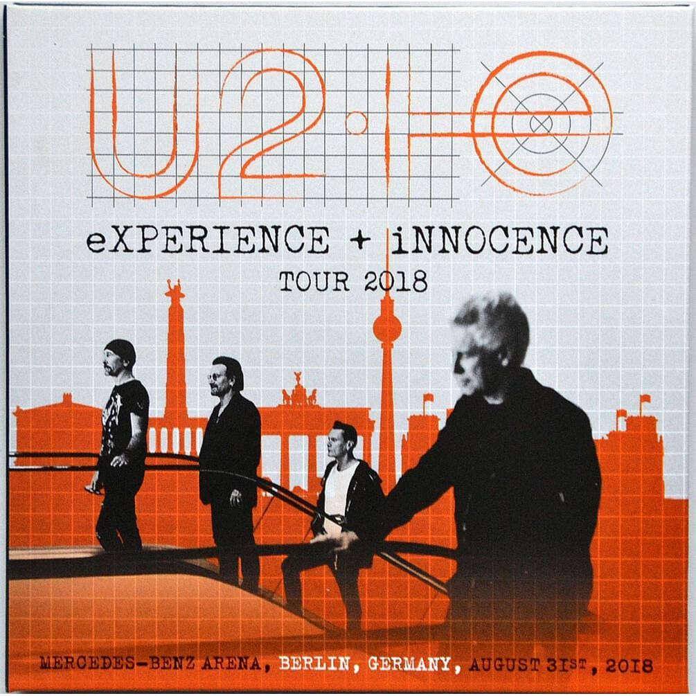 U2 Live In Berlin Germany 2018 eXPERIENCE+iNNOCENCE Tour 2CD