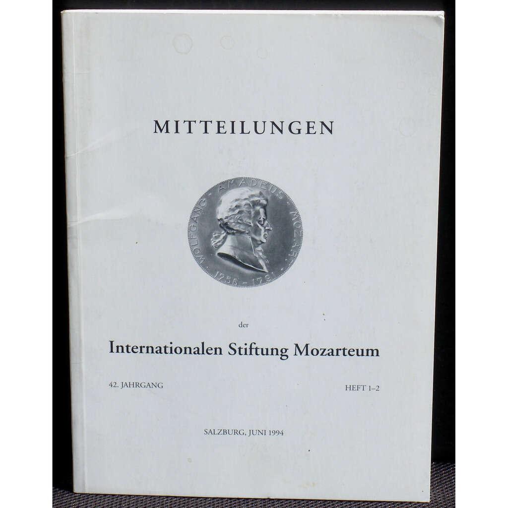 Internationalen Stiftung Mozarteum Salzburg 1994 Mitteilungen