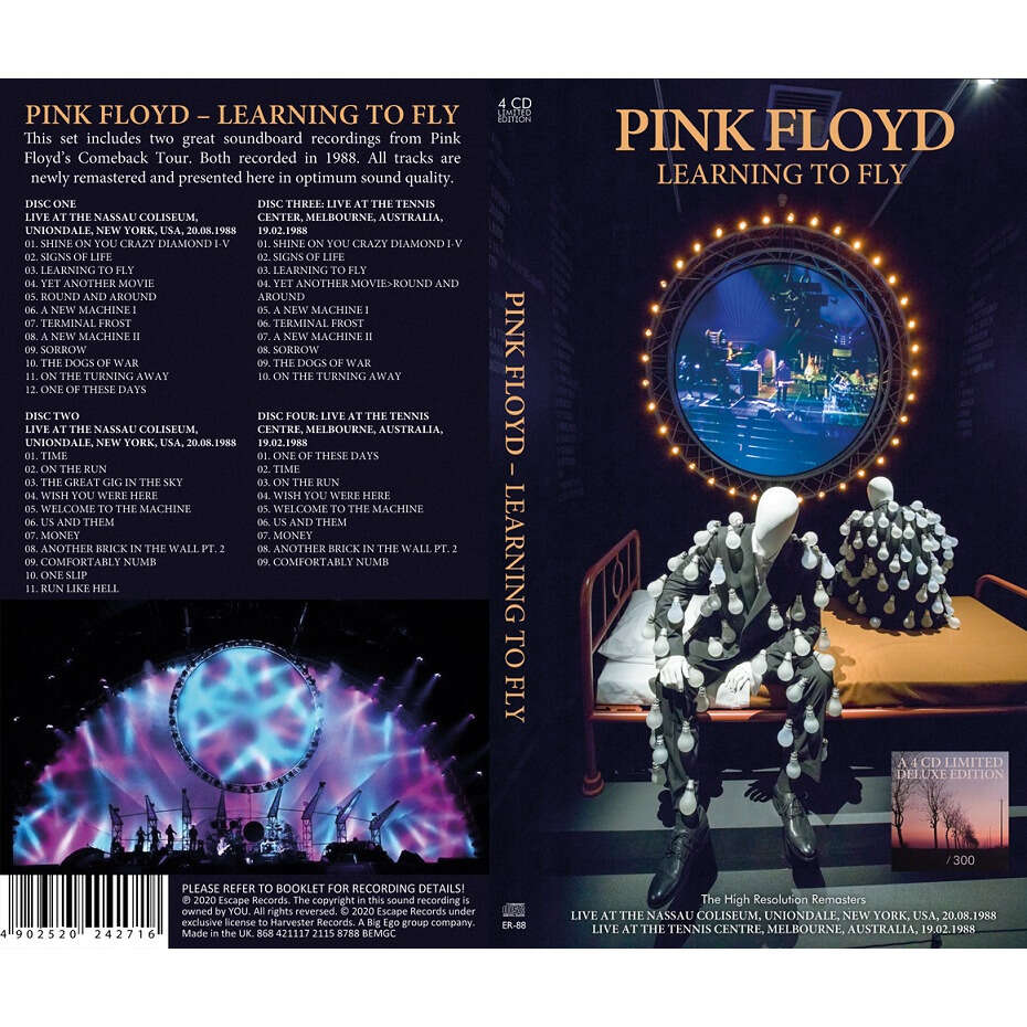 Pink Floyd Learning To Fly 4 CD Longbox