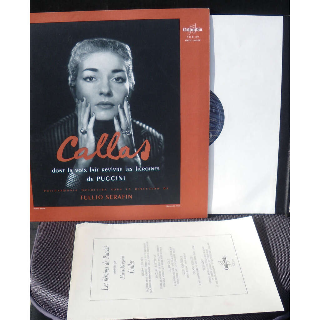 Puccini Maria Meneghini Callas Tullio Serafin Manon Lescaut - La Bohème - Turandot... - Cleaned by Clearaudio machine.