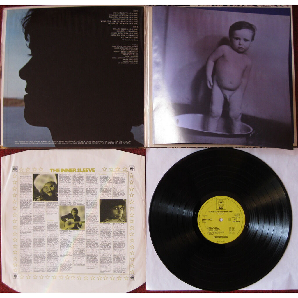 DONOVAN Donovan's greatest hits ( with booklet, different label, and U.S. sleeve )