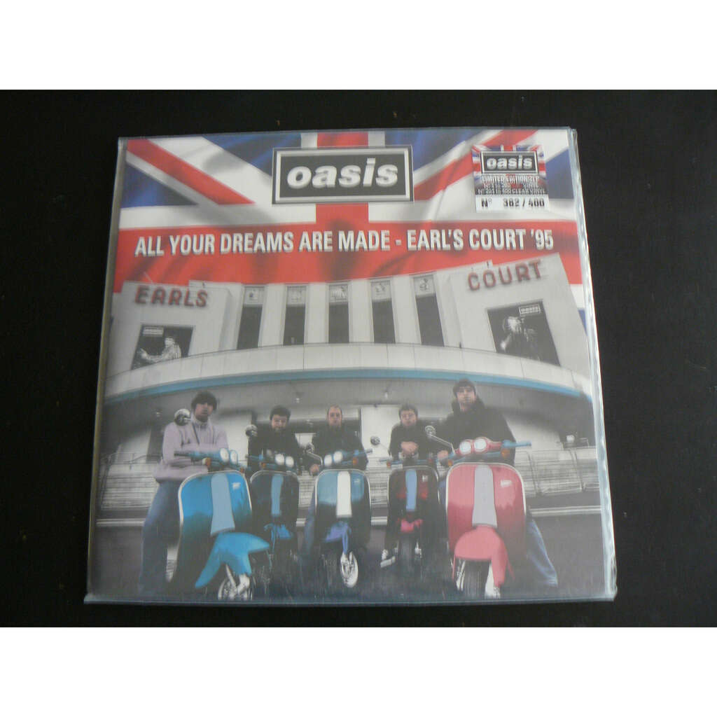 OASIS ALL YOUR DREAMS ARE MADE - EARL'S COURT '95 2LP CLEAR