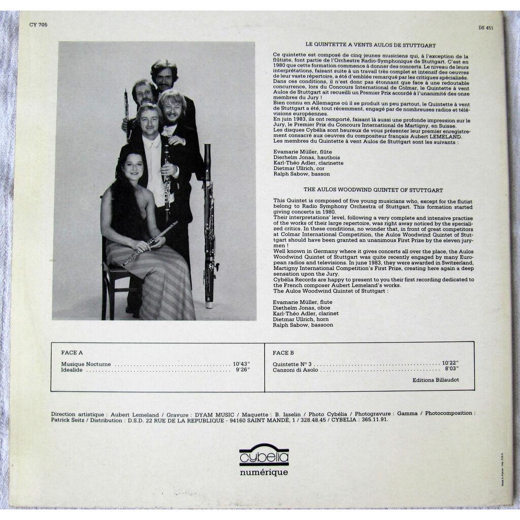 Quintette à Vents Aulos de Stuttgart (Aulos-Bläser Musique Française du 20e Siècle / Musique Nocturne, Idéalide, Quintette N°3, Canzoni Di Asolo