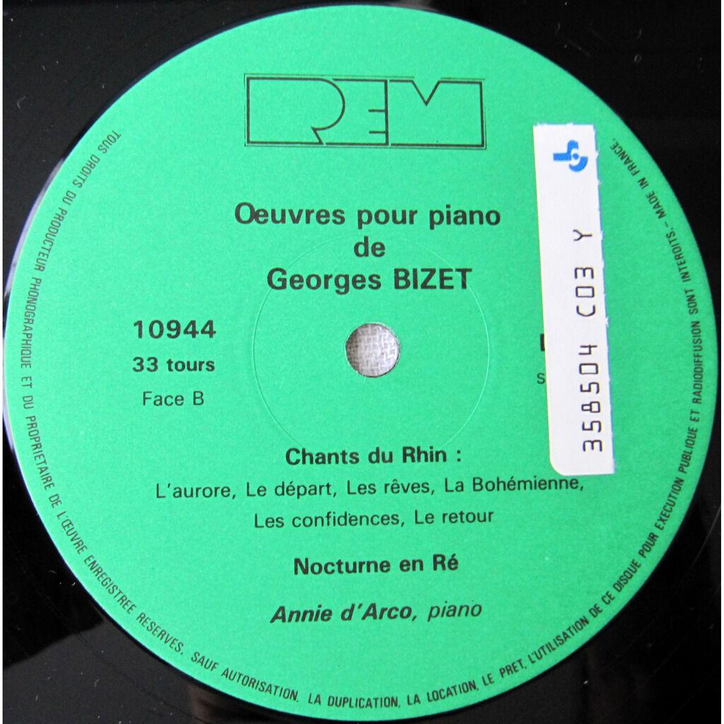 Georges Bizet, Annie d'Arco Oeuvres Pour Piano