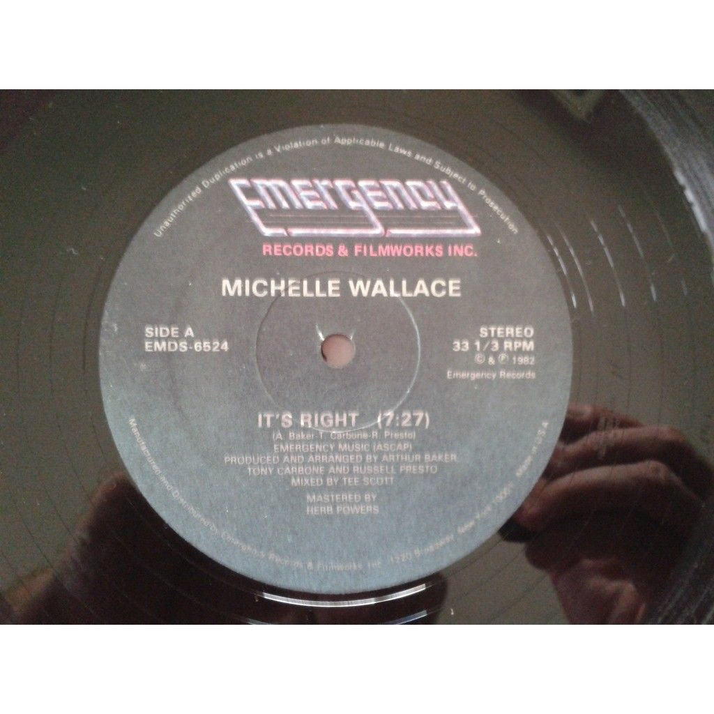 MICHELLE WALLACE it's right / tee's right instrumental.1982.