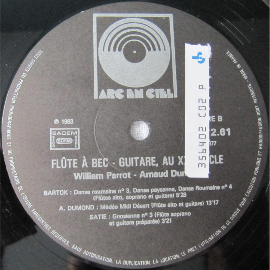 Arnaud Dumond, William Parrot / Béla Bartók, Erik Flûte à Bec - Guitare, Au XXe Siècle
