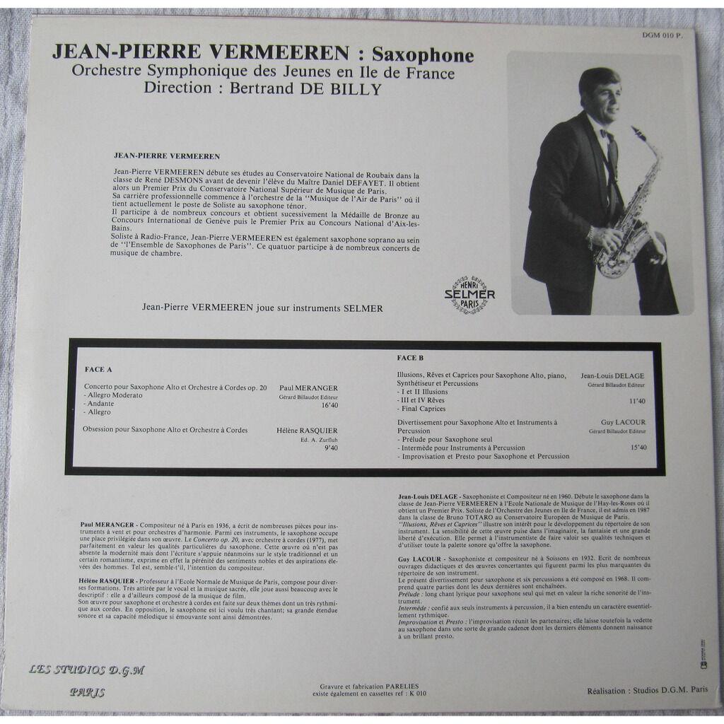 Jean Pierre Vermeeren, Orchestre Symphonique des J Musique Pour Saxophone