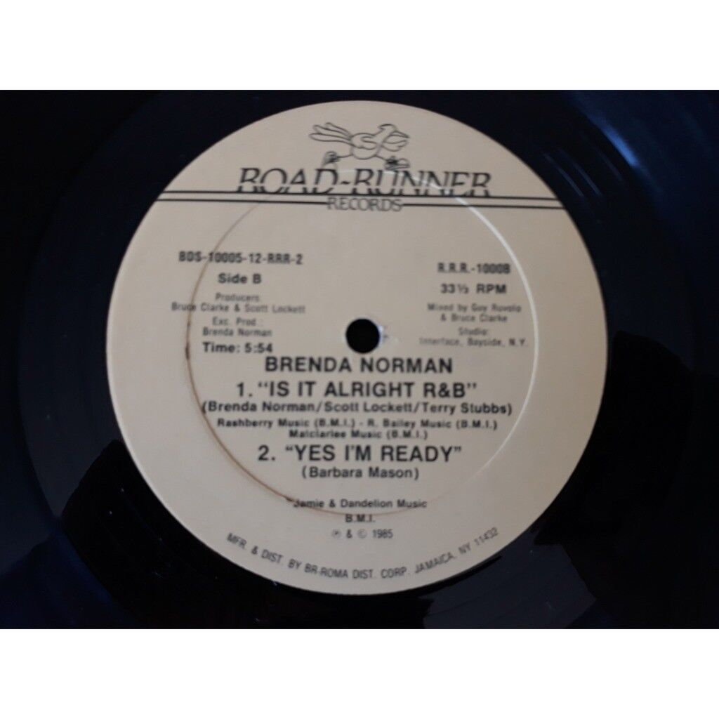Brenda Norman Is It Alright R&B / Yes I'm Ready.1985.