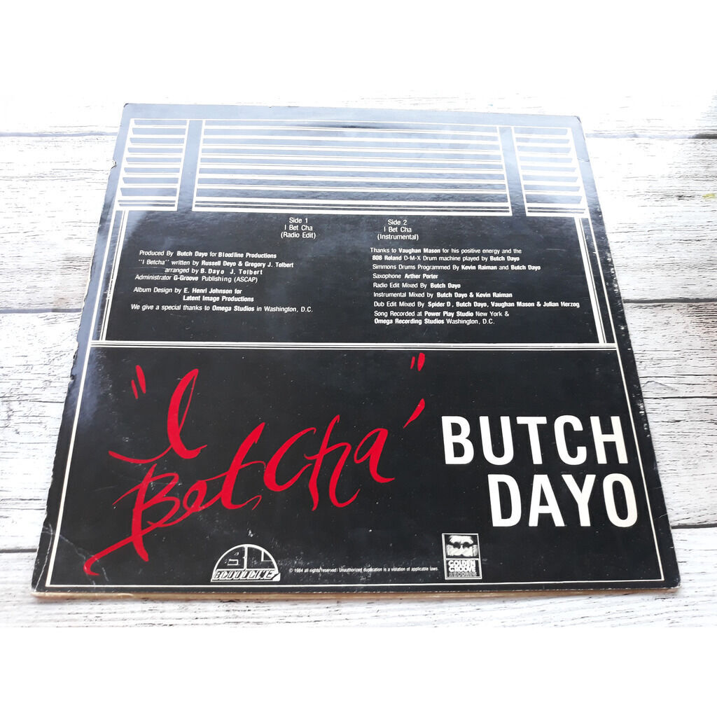 Butch Dayo I Betcha .1984.