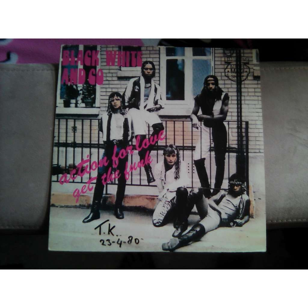 BLACK WHITE AND CO 7 INCH SCARCE action for love / get the funk LISTEN THE SAMPLE
