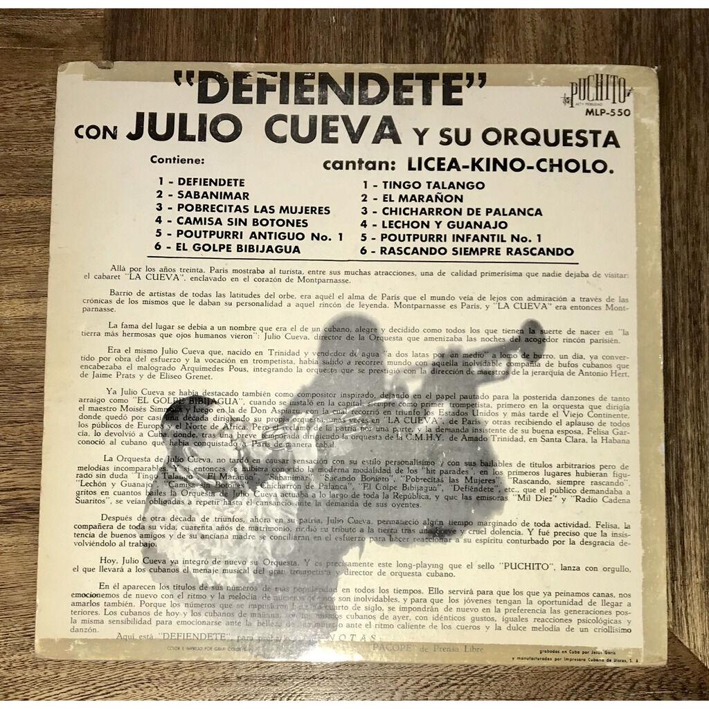 Julio Cueva y su orquesta Defiendete