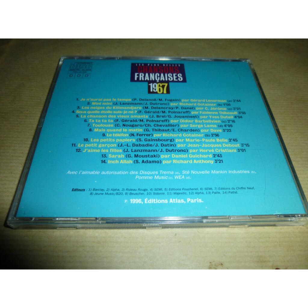 Various Les Plus Belles Chansons Françaises - 1967