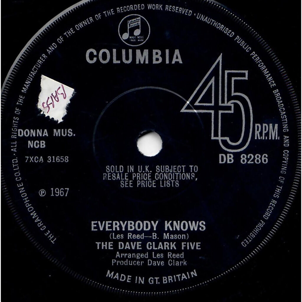 DAVE CLARK FIVE Everybody knows / Concentration baby