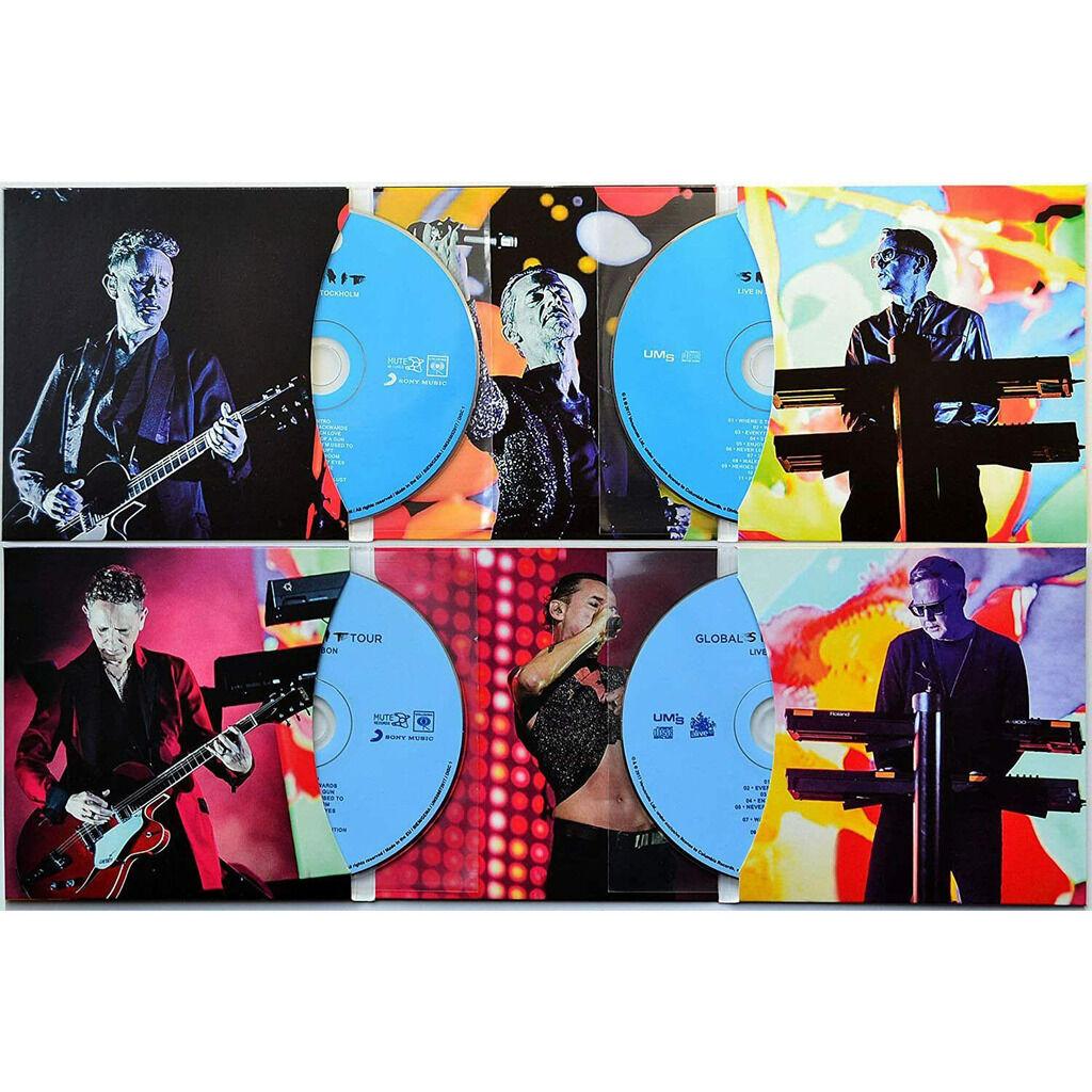 DEPECHE MODE Live In Stockholm + Lisbon 2017 Global Spirit Tour 4CD Slipcase Box