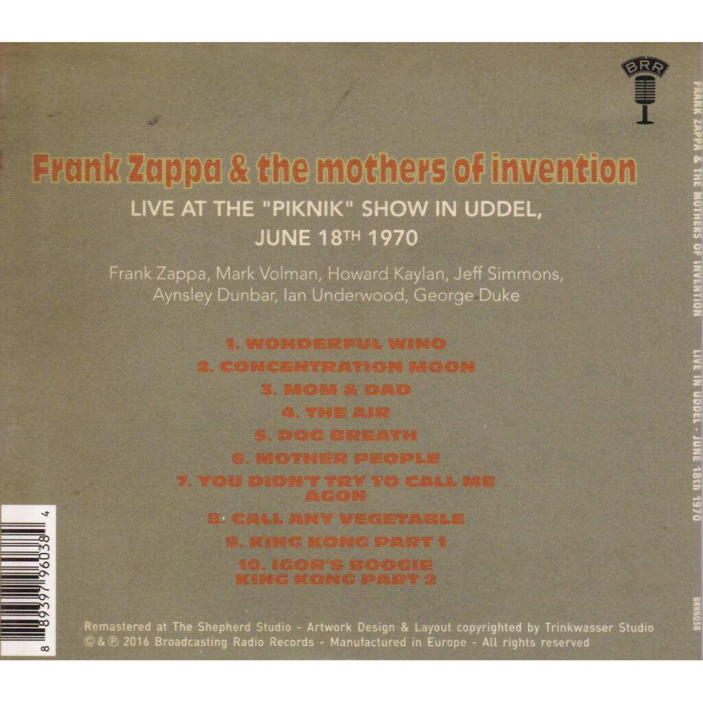 Frank Zappa & The Mothers Of Invention Live At The Piknik Show In Uddel, NL June 18th, 1970