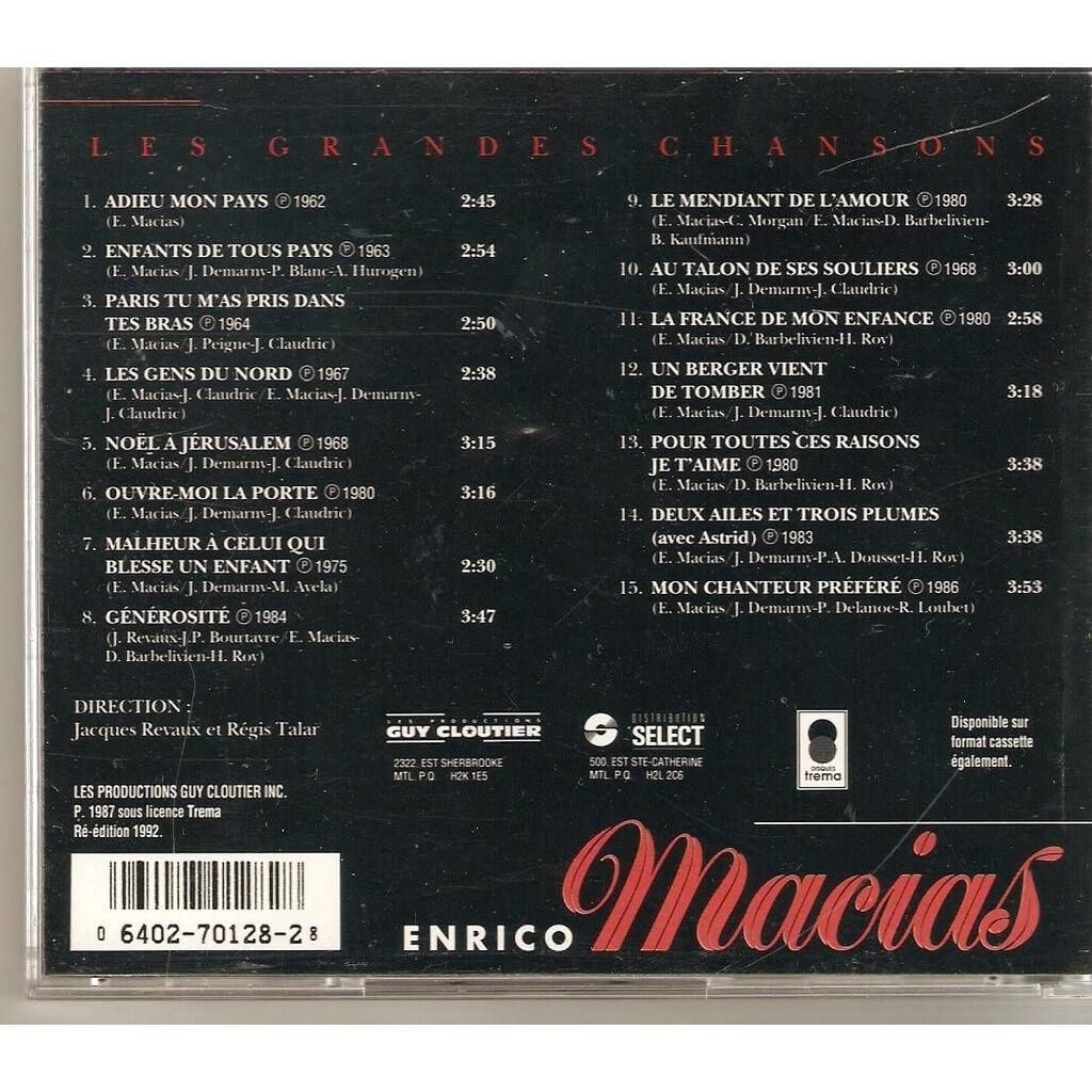 enrico macias Les grandes chansons - exclusif canada