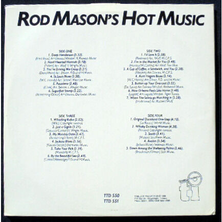 Rod Mason's Savannah Orchestra / Hot Five music Rod Mason's Hot five Music