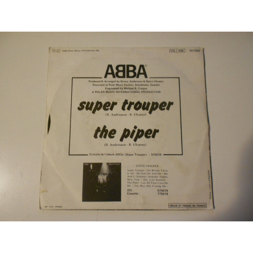 abba super trouper / the piper
