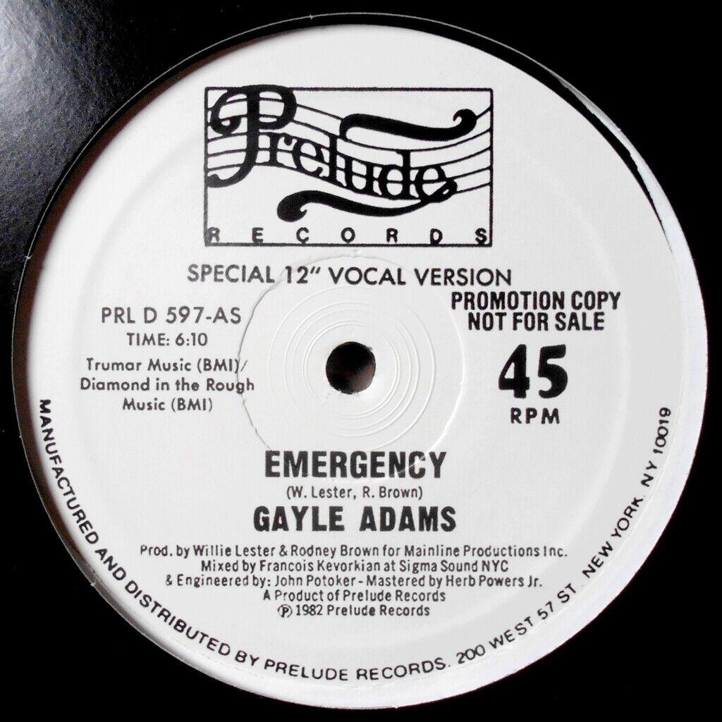 gayle adams EMERGENCY / love attraction