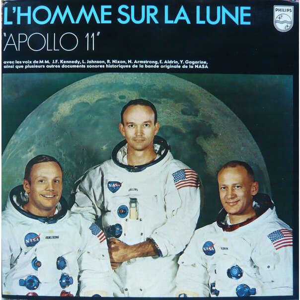 L'HOMME SUR LA LUNE / MAN ON THE MOON Apollo 11 (rare original French press - 1969 - Gatefold sleeve)