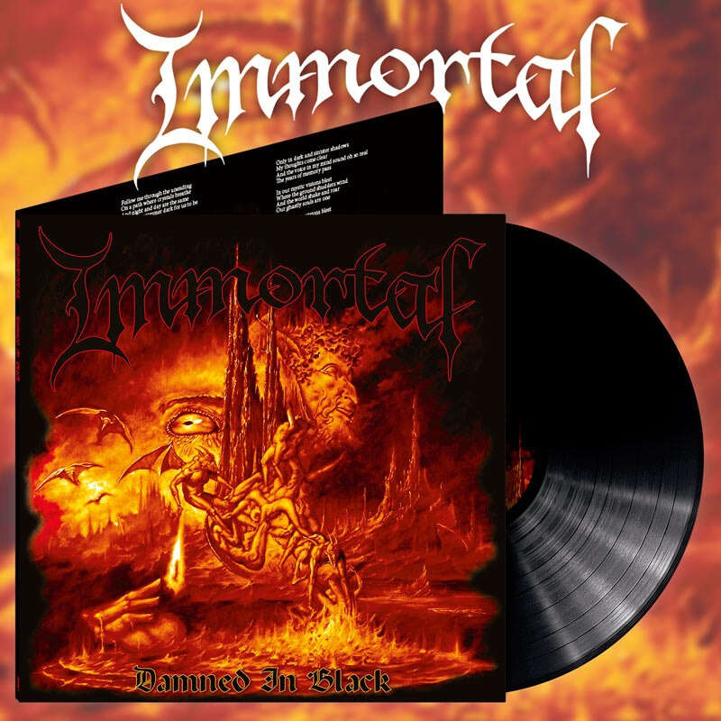 IMMORTAL Damned in Black (Alternative Artwork). Black Vinyl