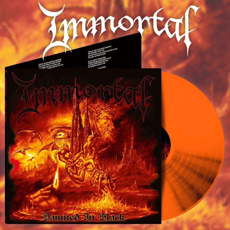 IMMORTAL Damned in Black (Alternative Artwork). Orange Vinyl