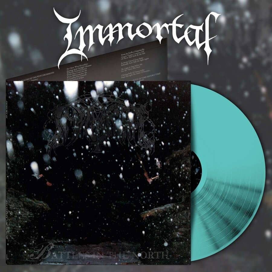 IMMORTAL battles in the north (alternative artwork). blue vinyl