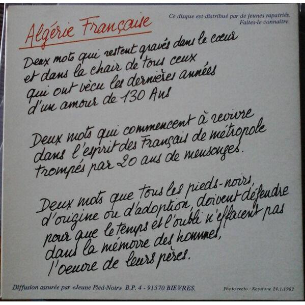 Jean-Pax méfret chante L'Hymne des Pieds Noirs - la prière des barricades